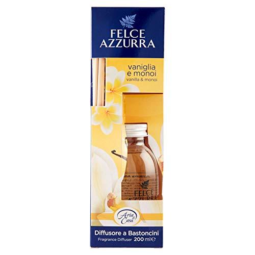Felce Azzurra - Aria di Casa Profumatore per l'Ambiente, Diffusore a Bastoncini Vaniglia e Monoi, Puro Benessere - 200 ml