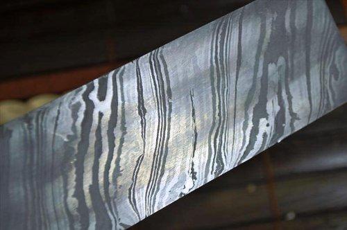 Perkin Knives Damaszener Stahl zur Messerherstellung, über 200 Schichten, 254*38*4,0mm