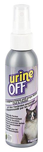 Kerbl 81680 UrineOff Spray Katze Geruchs- und Fleckenentferner, 118 ml