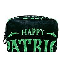 女性用コスメティックバッグ 楽しいセント・パトリック・デイを過ごしてね ゆったりとした化粧ポーチトラベルトイレタリーバッグアクセサリーオーガナイザー