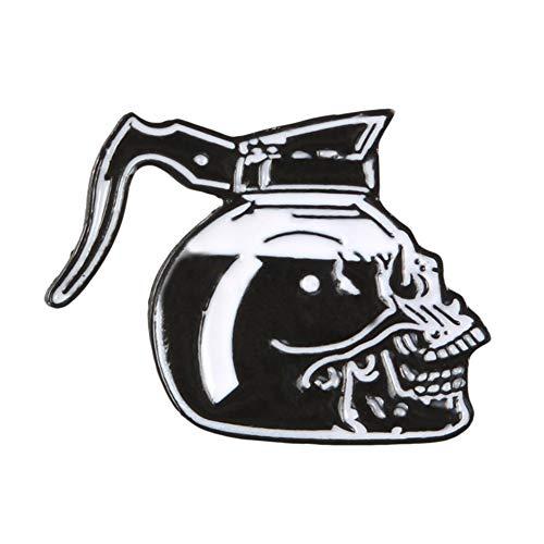 Qianren Halloween Broschen Schädel Legierung Metall Sacry Horror Pin Badge Urlaub Kostümdekorationen