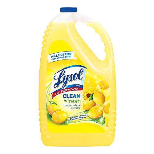 Lysol Disinfectant All Purpose Cleaner, Lemon Scent, 144 oz