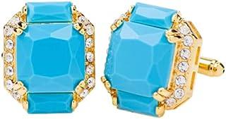 أزرار أكمام Vittorio Vico مستطيلة اللون مرصعة بالكريستال من Classy Cufflinks