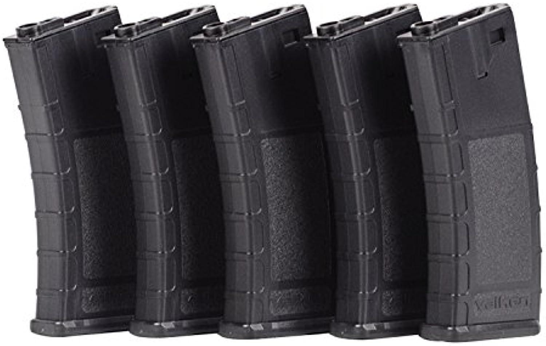 Valken Tactical Airsoft RMAG Hi Cap Thermold 300 Magazine (5 Pack), Black