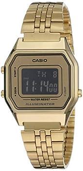 Casio LA-680WGA-9B–Clock with Quartz Movement for Women Gold Colour