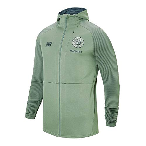 New Balance Men's Celtic Football Travel Full-Zip Hoodie, Agave Green, S