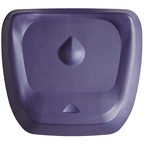 Topo Comfort Mat by Ergodriven | The Not-Flat Standing Desk Anti-Fatigue Mat with Calculated Terrain | Standing Desk Mat | Comfortable Standing Mat | Office Mat | Desk Accessories | Mulberry Purple