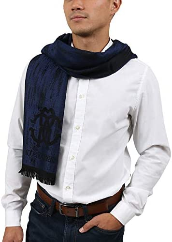 Roberto Arlington Nippon regular agency Mall Cavalli ESZ052 04500 Blue Wool Mens Scarf Grunge Blend f