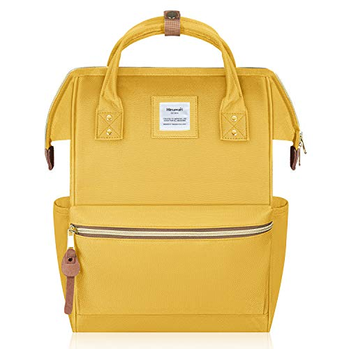 Hethrone Zaino Donna Impermeabile Porta Pc 15.6 Pollici Zaino Antifurto Scuola Universitá Moda Zaini Lavoro Computer Backpack Laptop Giallo