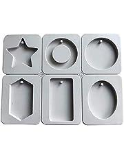 SONSMER Moldes de cera de silicona, ovalados, rectangulares, con forma de estrella de diamante, para hacer joyas, manualidades