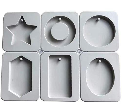 SONSMER Silikon-Wachsformen, oval, rechteckig, Ring-Design, Stern, rund, Diamant-Harz, Schmuck-Herstellung
