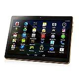 Gobutevphver Tablet Pc 10.1 Pulgadas Tablet PC Ram ROM 2 + 32Gb Tarjeta Dual Doble Modo de Espera Cámara Dual 4.0 Teléfono WiFi Tableta - Enchufe Europeo Negro