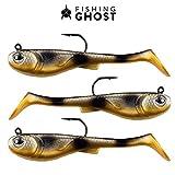 FISHINGGHOST GRUMPYbaby - 13gr, 11cm, Extreme Schwimmaktion, Angelköder zum Hechtangeln, Softbait,...