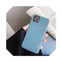 For iPhone 11 Pro Max 6 6s 7 8 Plus XR XS Max ソフト TPU プレーン純正色バックカバー用 Auangao 蛍光色電話ケース-Gray-For iPhone 11