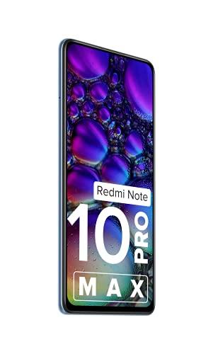 Redmi Note 10 Pro Max (Glacial Blue, 6GB RAM, 128GB Storage) -108MP Quad Camera 120Hz Super Amoled Display 6