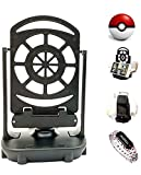 Step Counter Swing Compatible with Pokemon Go Poke Ball Plus Go-tcha Cellphone Accessories Automatic Egg Hatcher Evolve Electric USB Powered Mute Quick Setup Supports 2 Phones (Black)