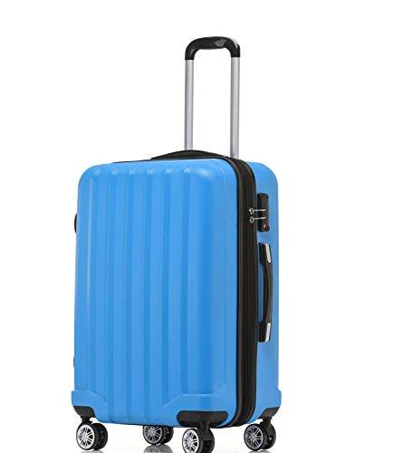 BEIBYE TSA-Schloß 2080 Reisekoffer Koffer Trolley Türkis-L(66cm)