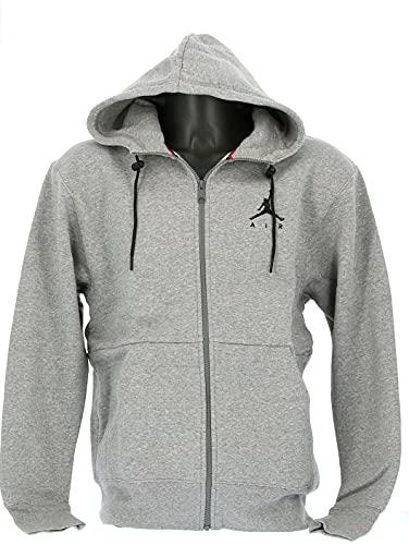 Nike Herren M J Jumpman Fleece Fz Sweatshirt Gr. M, Carbon Heather/Carbon Heather/Black