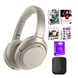 Sony WH1000XM3/S Wireless Noise-Canceling Headphones (Silver) Bundle with...