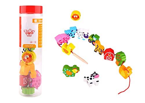 Tooky Toy- Laçage, TKB510-B, Multicolore, 31 x 4 x 4 cm