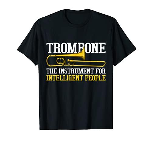 El Instrumento Musical Para Gente Inteligente Regalo Trombón Camiseta