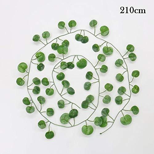 Terraberk Artificial Plants Creeper Green Leaf Ivy Vine for Home, Wedding Decor, DIY - Pack: A