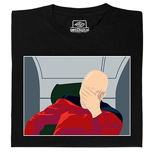 Facepalm - Geek Shirt für Computerfreaks aus fair gehandelter Bio-Baumwolle, Größe XXL
