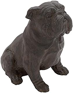 Deco 79 Poly-Stone Bull Dog, 10 by 11-Inch