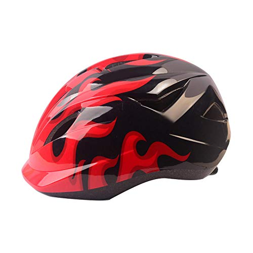 Claean-Acces-Home Youth Multi-Sport Helmet Kids Bicycle Helmet PVC+ Ultralight Children Cycling Helmets Safety Carbon Cycling MTB Skate Helmet Mountain Bike Hats-Red_China