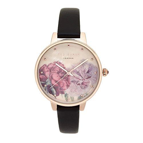 Ted Baker Reloj Analógico para Mujeres de Cuarzo con Correa en Cuero TE50013016
