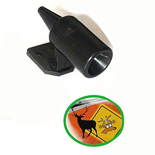Yibid Save A Deer Whistle Alert Horn Wildlife Warning Devices for Car Truck Auto Motorcycles any Vehicle Safe Driving on Freeway (Black, 1 piece)