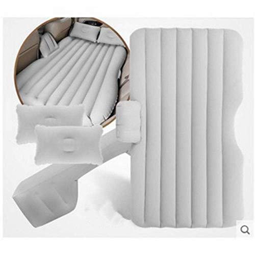 Zixin Auto-Reisebett, Auto Luft aufblasbare Matratze Reise Split Bett for Back Seat Rast Matratze Kissen im Freien Isomatte Kissen Sofa (Color : Grey)