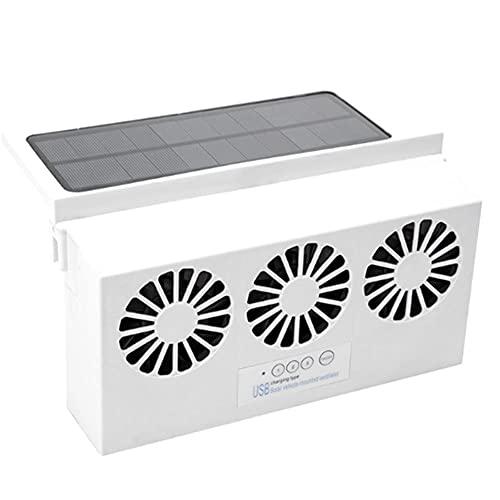 WXJWPZ WhiteDesarrollado Escape Modo de Ventilador de Alta Potencia Solar Dual Ventana de energía de alimentación del radiador Extintor Salida de Aire Auto del Ventilador del Sistema de refrigeración