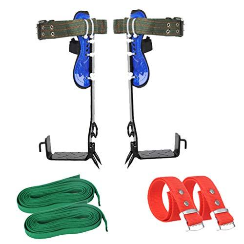 BESPORTBLE 1 Set Baumkletterausrüstung Edelstahl Baumkletterspikes Set mit Verstellbarem Sicherheitsgurt für Das Obstpflücken im Dschungel