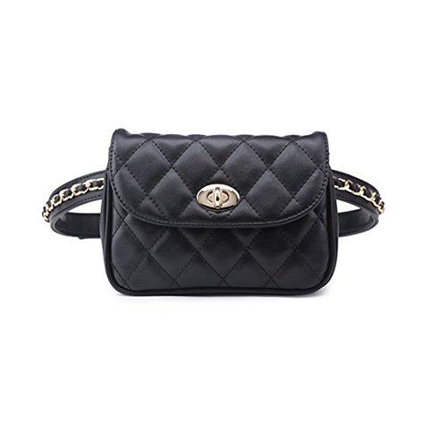 marsupio donna cintura Umily donne ragazze Waist Packs Fanny Pack cellulare custodia Mini in pelle multifunzione borsa cintura borsa per le donne regalo