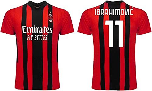 3R SPORT SRL Maglia Ibrahimovic Milan 2022 Ufficiale Ibra Adulto Ragazzo Bambino Replica Autorizzata 2021 2022 (12 Anni)