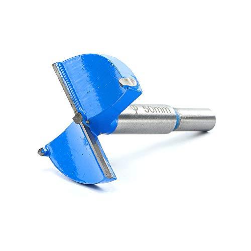 2 Inch 50mm Brocas Forstner,Carpintería Agujero Sierra Cortador,Profesional Aleación de Acero Madera Broca para Taladro Aburrido Corte Herramienta (Azul)