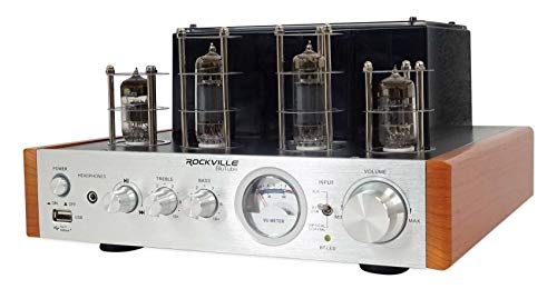 Rockville BluTube WD 70w Bluetooth Tube Amplifier/Home Stereo Receiver 2-Tone