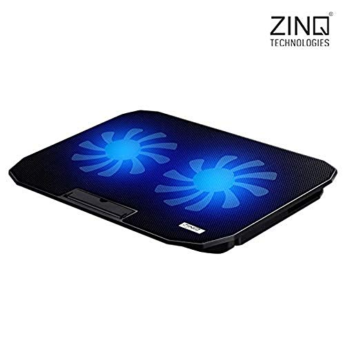 Zinq Technologies Cool Slate Dual Fan Cooling Pad for Notebook/Laptop with Dual USB Port(Black)