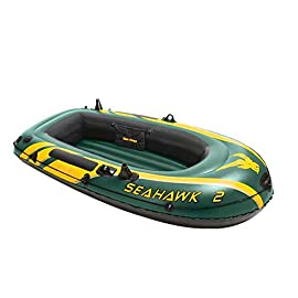YX-ZD Inflatable Kayak, Portable Motion Boat Dinghy,Durable PVC Material Foldable Inflatable Fishing Boat Drifting Ship… 6 GREAT QUALITY: This Inflatable boat adopts environmentally friendly PVC material, which has wear resistance, sun resistance. Heavy duty, suitable for two persons to use, load bearing is up to 300kg/661lbs. High-quality materials allow you to relax and play on the water. SAFE AND RELIABLE: Our inflatable boats are designed with different air chambers to ensure your safety. PVC thermal bonding seams provide first-class air retention and fine manufacturing processes to ensure no leaks. FOLDABLE & EASY TO STORAGE: Our inflatable boats fold up when you don't need them, saving you storage space. Easy to transport and carry during summer vacations, it is the best choice for your water holiday.