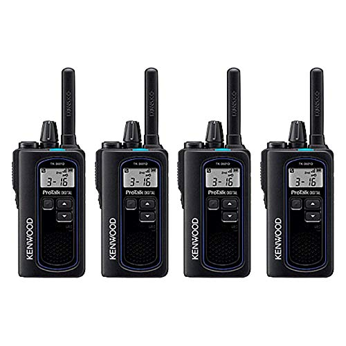 of kenwood ham radios Kenwood NX-P500 ProTalk Digital Two-Way Radio (Pack of 4), Loud Audio, Rugged and Submersible, Analog and Digital Mode, 6 Channel Operation, Individual and Group Calls, 99 User-Programmable Frequencie