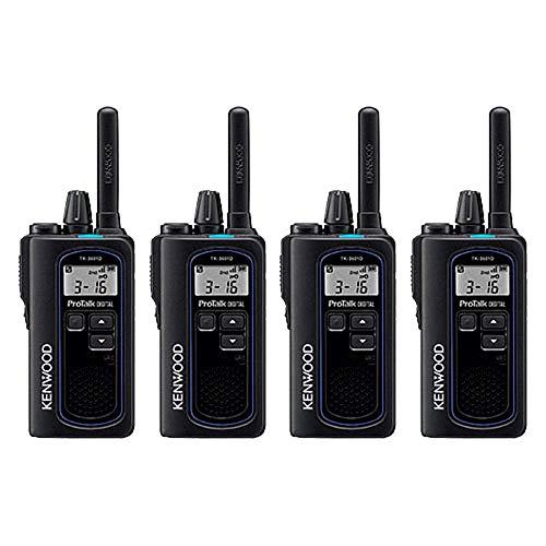 Kenwood NX-P500 ProTalk Digital Two-Way Radio (Pack of 4), Loud Audio,...