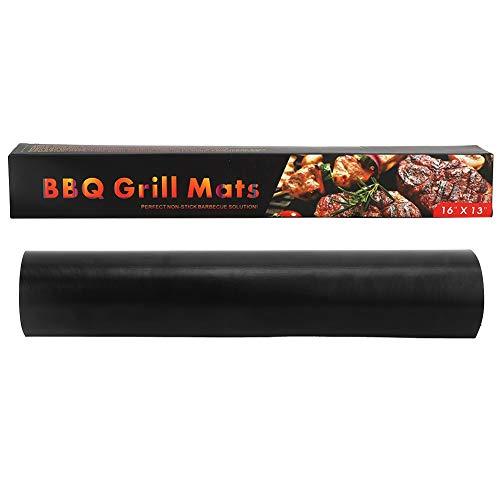Haokaini 5 Stück Grillmatte Wiederverwendbare Antihaft-Grillkochplatte Hitzebeständige Grillmatten für Den Gebrauch in Der Haushaltsküche