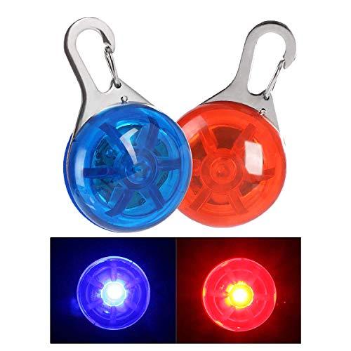 NONMON 2Pcs Sicherheits Clip-On LED Blinklicht Hunde Katzen LED Licht Leuchtanhänger Wasserdicht 3 Blinkmodis Halsband Light für Kinder, Läufer, Jogger, Walker, Fahrradfahrer