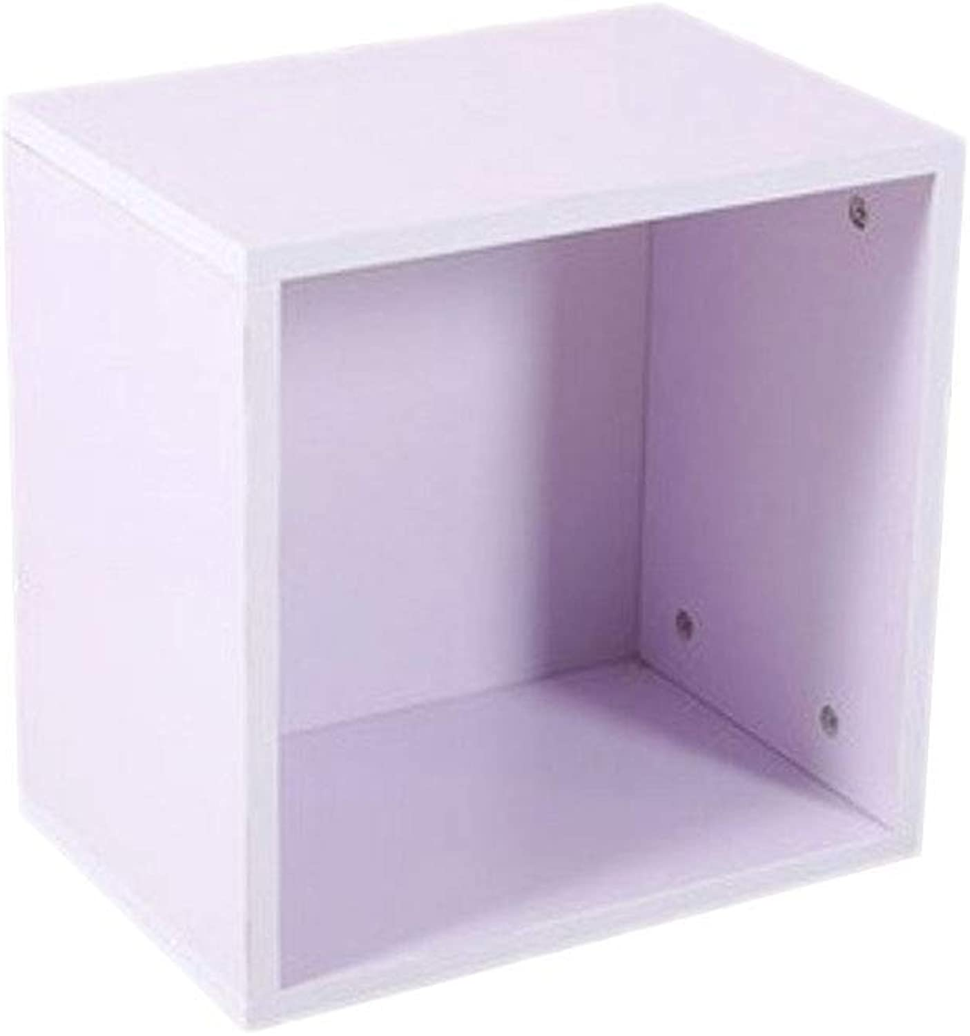 Bookcase Storage Cabinet, Wood DIY Combination Organizer Cube Bookshelf for Kid Home Office Assembly-White