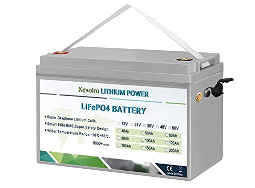 12V 100Ah LifePo4 Batterie bis zu 7000 tiefe Zyklen mit BMS Lithium Eisen für Wohnmobile Wohnmobile Solar Marine Caravans Golfwagen und mehr Run Enthält kein Ladegerät