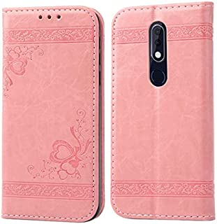 GHKSDLJFGDF For Nokia 5.1 7.1 3.1 Plus 2.1 Case Wallet Phone Cover For Nokia 2.1 5.1 3.1 Plus 7.1 Cases Auto Magnetic Phone Bag for nokia 2.1 Pink