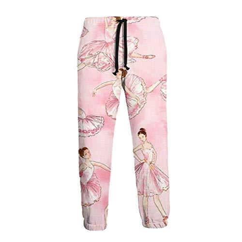 Florasun Ballet Pink - Pantalones deportivos para hombre, talla grande y alta, para entrenamiento