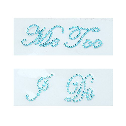 Blue I Do u0026 Me Too Set Acryl, Strass, Perlen, Brautkleid, lustig, Schuhe, selbstklebend, für Partys, Hochzeit, nützlich und praktisch, Li-ly