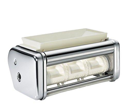 Küchenprofi Ravioli Aufsatz PASTACASA Zubehör für Nudelmaschine, Edelstahl, Silber, 18 x 11 x 10 cm, 6-Einheiten
